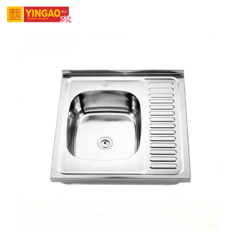 USA Standard size flexible durable Stainless Steel single bowl kitchen sink