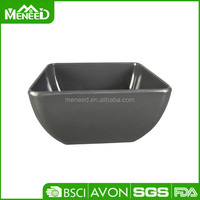 Temperature resistance flat bottom ourdoor gray eating plastic bubble bowl