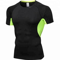 Wholesale Male Custom Printed Rash Guards Bodybuilding T-shirts Compression Shirt Men Running Tight Fitness Gym Wear T-shirt