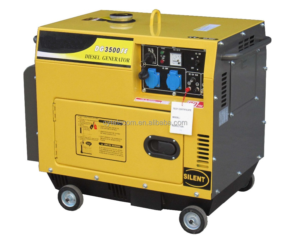 Air-cooled silent generator diesel 3kva with price