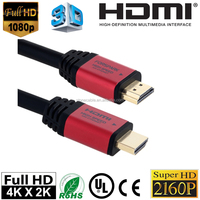 High Speed Ultra HDMI Cable 45ft with Ethernet ,Supports 4K, 3D, 1080p Full HD Latest Version, Burgundy Case