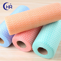 Air permeable spunlace nonwoven printed fabric