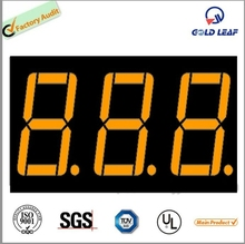 orange color 0.32 inch 3 digit 7segment digital led display used for counter small size seven segment