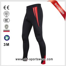 mens compression pants/sex skins compression sports tight wear long pants/tesla compression wear