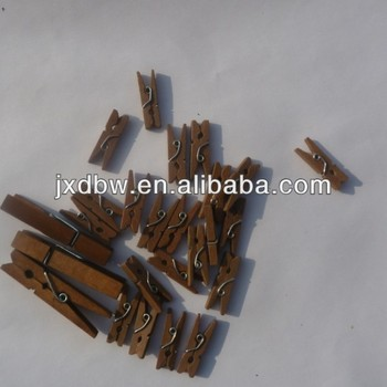 2.5cm Light Brown Colour Wood Pegs Mini Clothes Pins