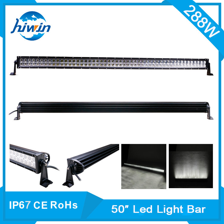 Hiwin 288w 50inch high quaitly 288w auto led driving light bar