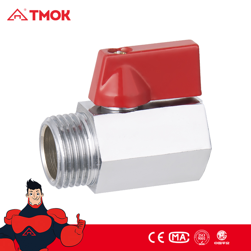 Convsion Mini Brass Ball Valve Male to Female M/F NPT/BSP 1/2 inch Copper Shutoff Ball Valve Flow Control Shower
