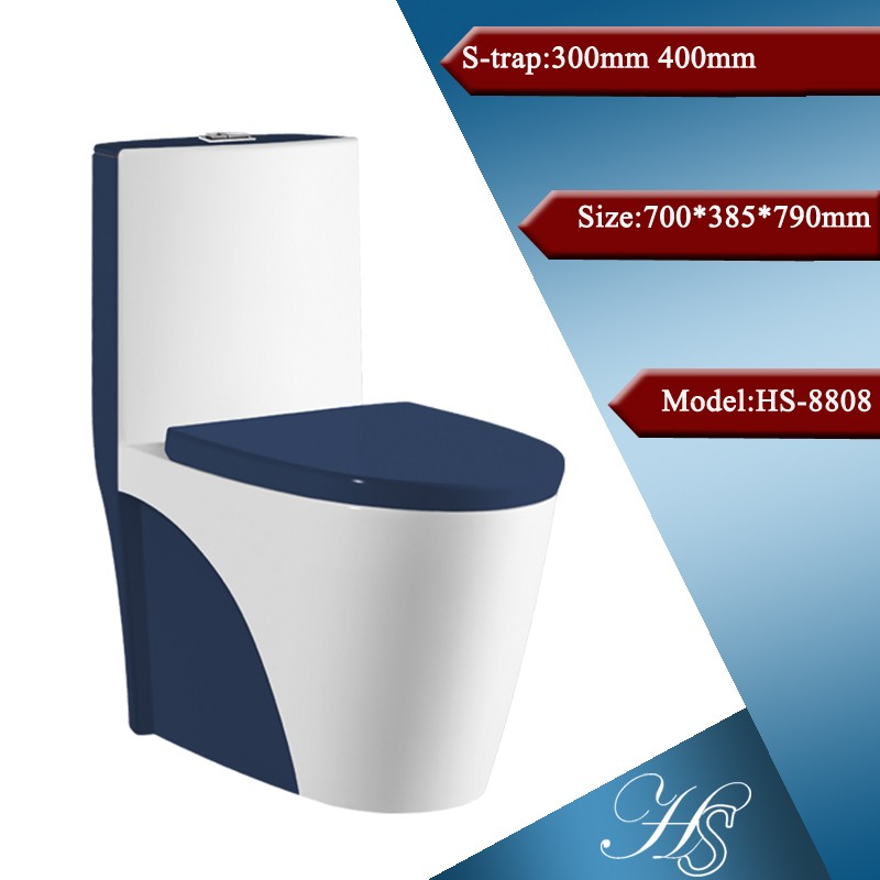 China Sanitary Ware Colored Toilet One Piece Toilet