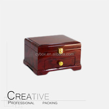 Stand up jewelry store luxury wooden jewelry box with drawer