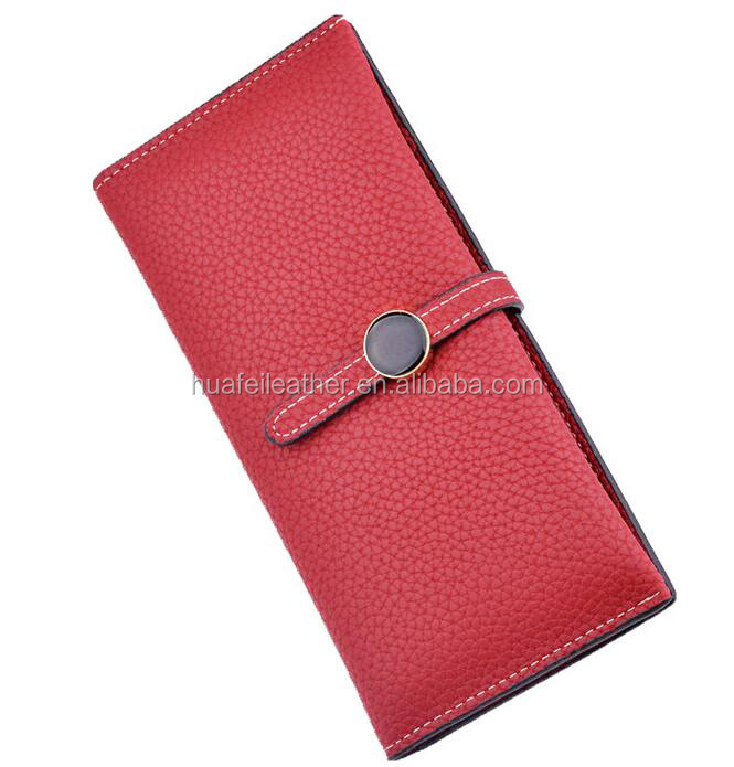 Low price PU leather lady purse handmade women wallet purse
