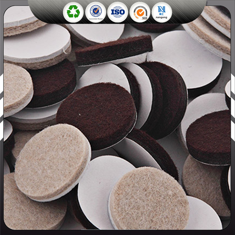 wholesale self adhesive customized felt circle pads for furniture
