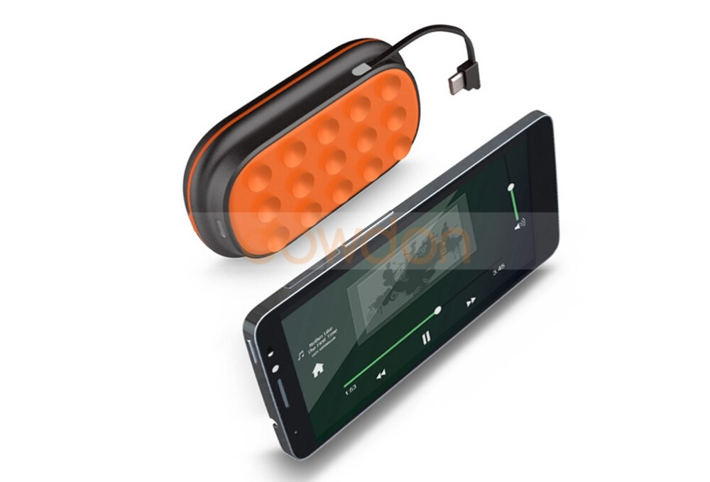 Bluetooth 3.0 3000mAh Power Bank Speaker with Suction Cup Handsfree Calls Function
