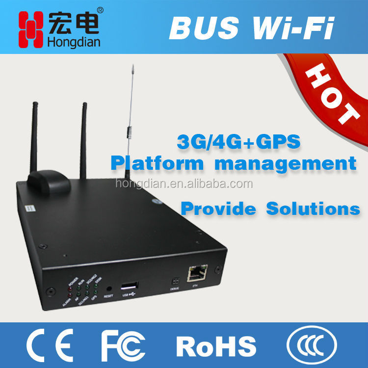 Bus cellular LTE 3G dual SIM modem as wifi hotspot