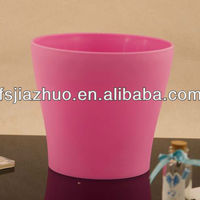 Plastic Round Colored Pots Is Home