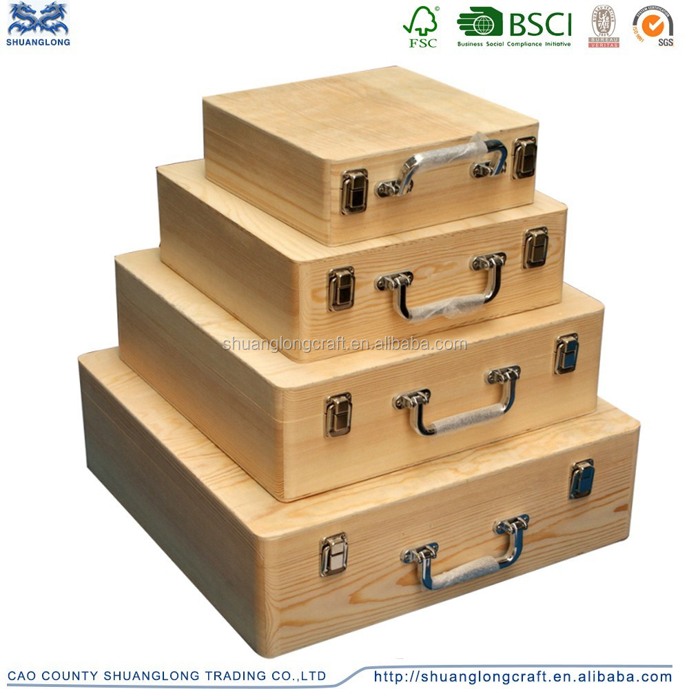 Large decorative gift wooden boxes with lids