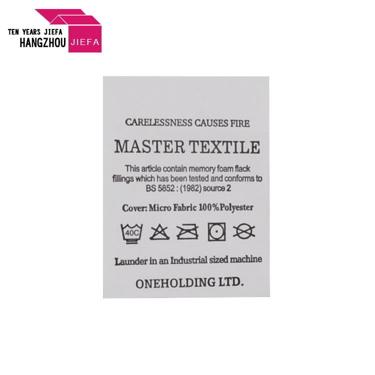 Eco-friendly High Quality Printed Labels for Clothing