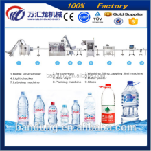 easy cleaning Factory price water treatment water pipes installed labeling filling machine