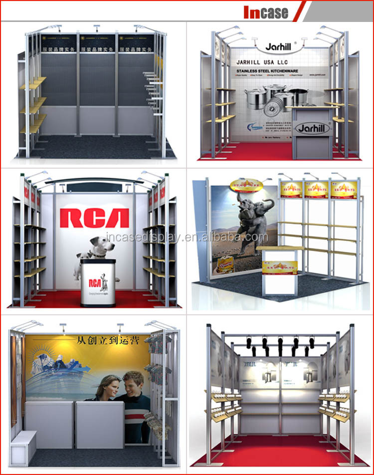3x3 Exhibition Stand : M aluminum exhibition display booth stand d models