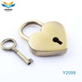 high quality decorative heart colour luggage bag,travel bag mini padlock in heart shape