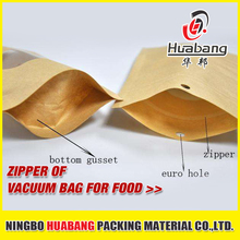 food vacuum bag zipper plastic zip