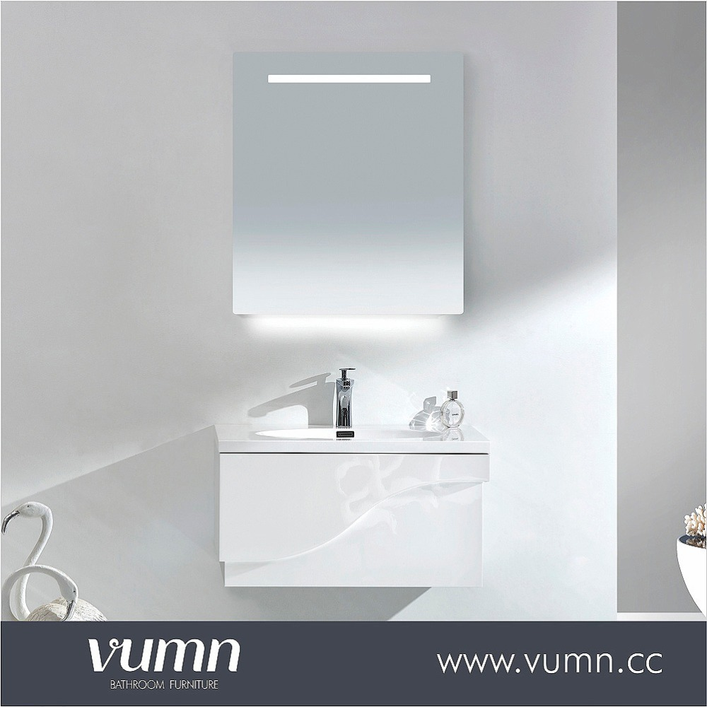 Wenzhou factory wholesale cheap bathroom vanity sets with led wall makeup mirror