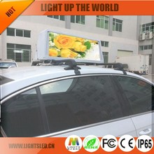 Two-sided Digital Taxi Top LED/LED Screen for Car/Advertising Taxi Roof LED Screen for Sale
