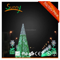 led christmas cone tree light, led christmas cone tree light motif outdoor