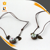 Suolide rope flower stone ceramic fashion women necklace jewelry