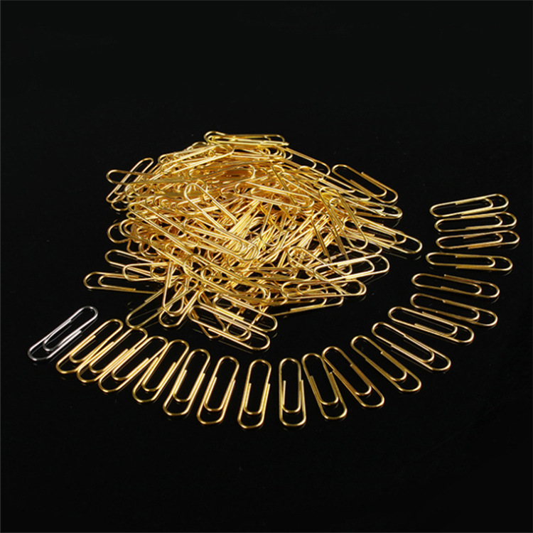 factory wholesale 25mm 28mm 33mm 50mm GOLDEN metal  paper clip