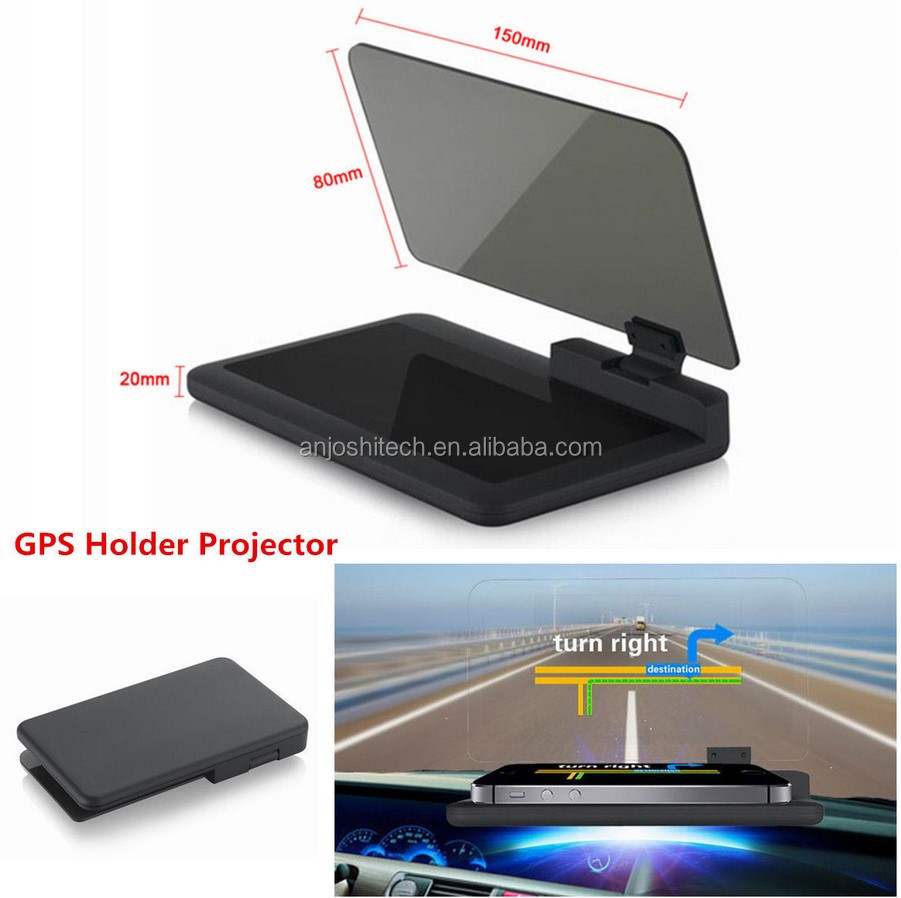 "6"" Car H6 HUD Head Up Display Projector Phone Navigation GPS Holder Non-slip Mat H6"