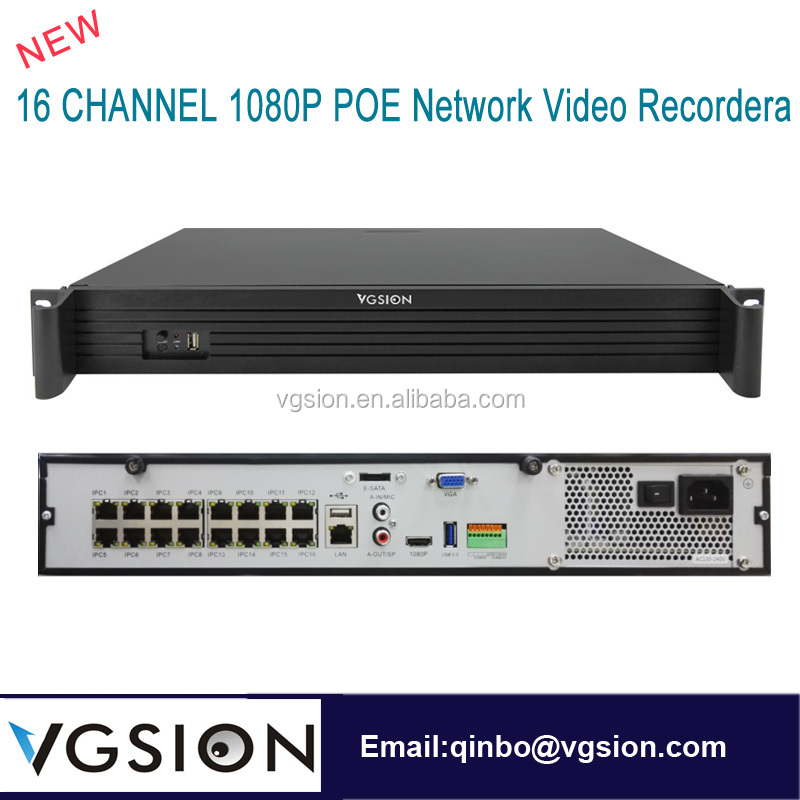 16 Channel 1080P Real POE NVR 4*6TB HDD RS485 USB Audio CCTV HD IP Recorders Poe Security Camera System Brand Surveillance DVR