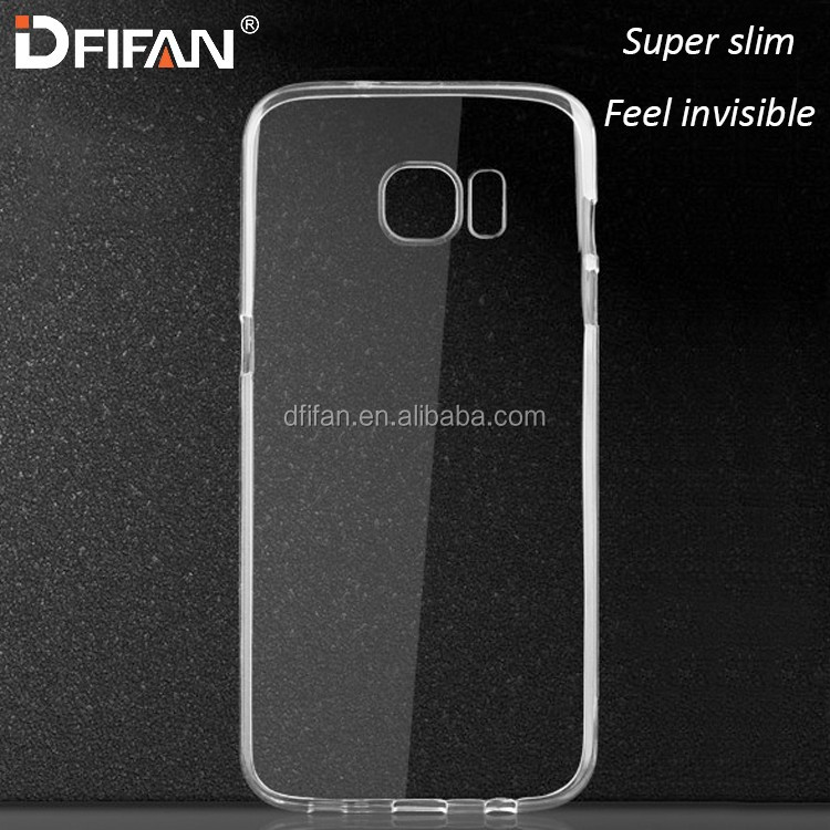 Mobile phone case for samsung galaxy s7 tpu transparent crystal mobile phone cover for galaxy s7 case