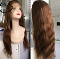Fashional New products brazilian real human hair beauty natural hairline 20inch straight lace front wig for women