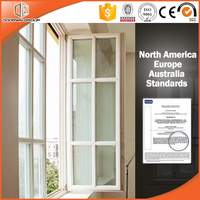 New white solid oak wood casement window grill design for windows and doors