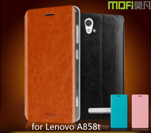 MOFi Flip PU Leather Smart Mobile Phone Cover Cases for Lenovo A858t, Free Samples, Mobile Accessories