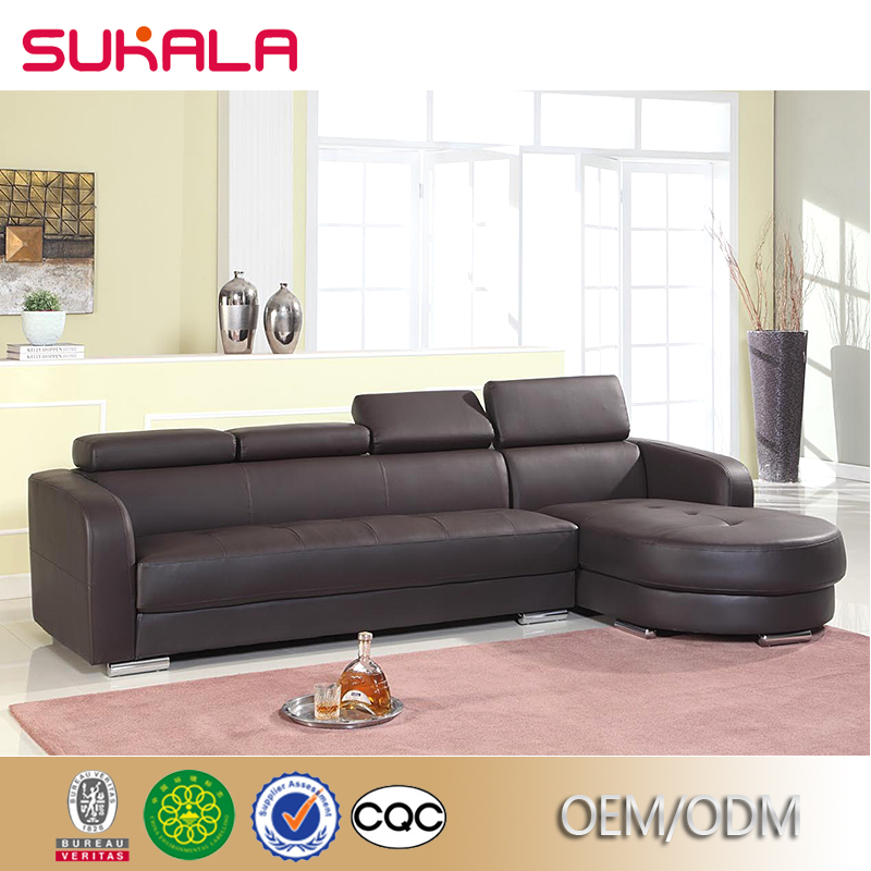 Designer luxury living room PU leather modern sectional sofas