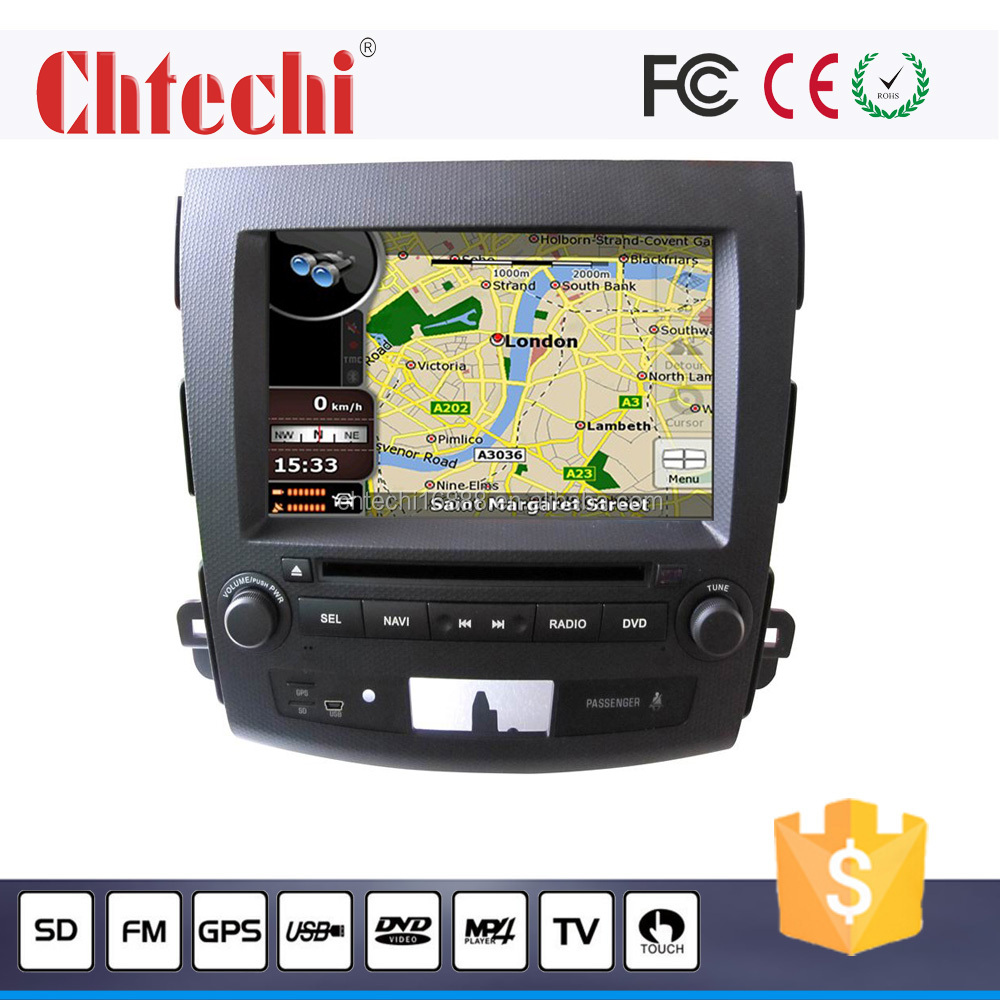 8 inch Japan Touch screen car radio dvd player gps navigation for Mitsubishi Outlander
