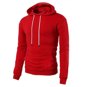 Walson SHD28 high quality custom plain 100% cotton fitness hoodie in clothing manufactures