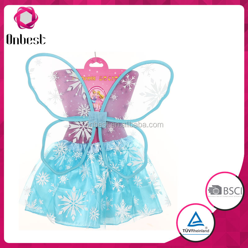 Princess Girls Fairy Costume Tutu Wing Wand Set For Girls Dress Up handmade high quality butterfly fancy carnival costume