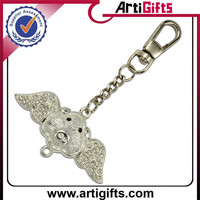 Custom cheap engraved brand name metal keychain