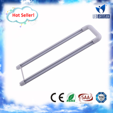 2ft U shape bend tube clear/milky t8 led tube parts for application in supermarket, warehouse, factory~