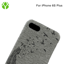 Hot Sale PC PU Leather Mobile Phone Case for iphone 6s plus, Back Cover for iphone 6s plus