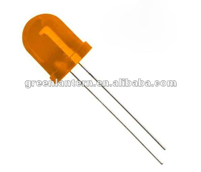 10mm round diffused LED amber