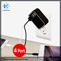 22.5w USB travel charger 4 ports charger With EU/UK/US/AU plugs CE KC SAA TUV certifid