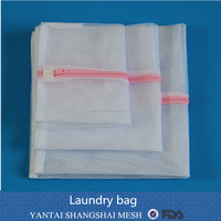 100% polyester drawstring mesh Laundry bag