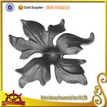 Ornament Decorative Metal Ornaments For Gate, Casting Steel leaves , Wrought Iron Gates Ornaments
