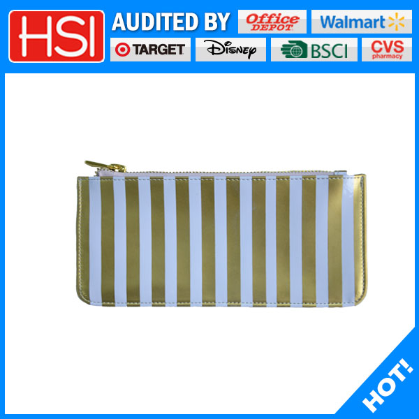hot selling competitive price gold stamping PU pencil case