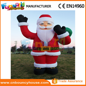 Air santa claus large commercial christmas decorations inflatable