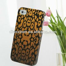 Plastic Leopard cover case for iphone 4
