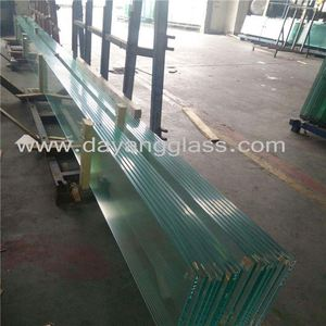 4mm clear float tempered building glass by top quality